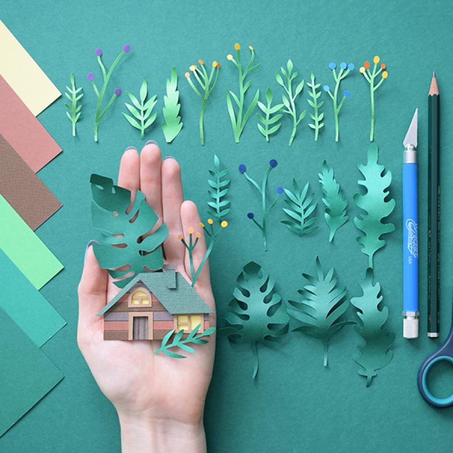 Beautiful Paper Art Work by Margaret Scrinkl