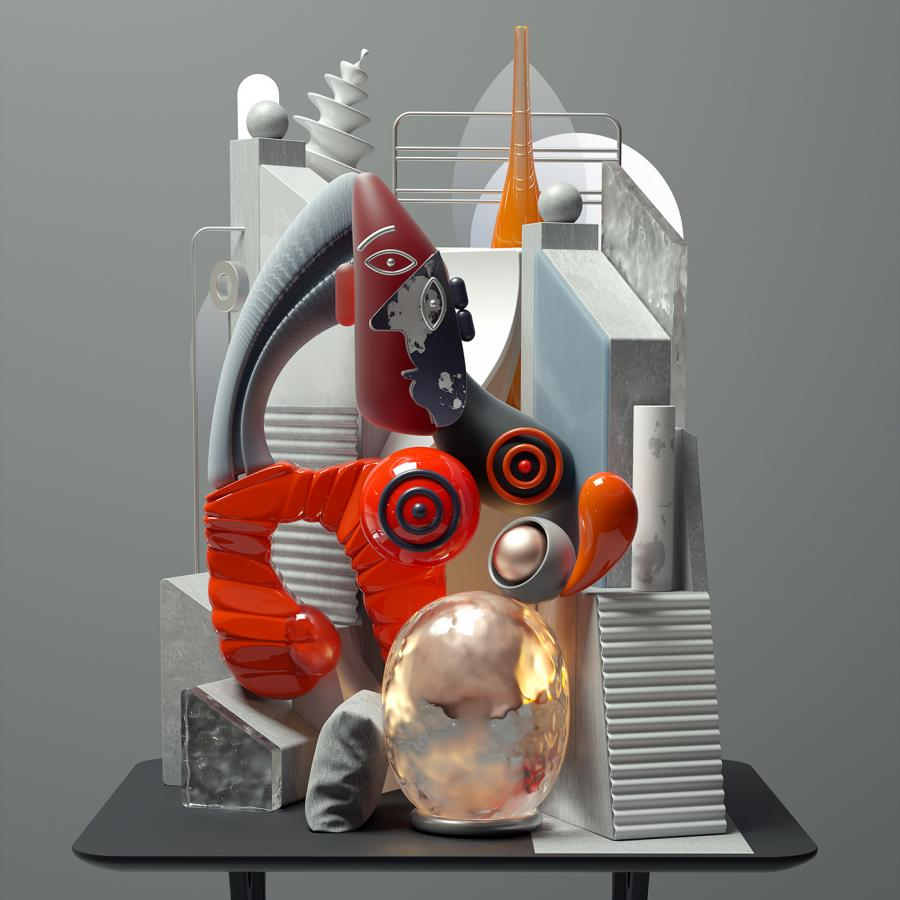 Incredible Reinterpretations of Picasso in 3D using Cinema 4D and Octane