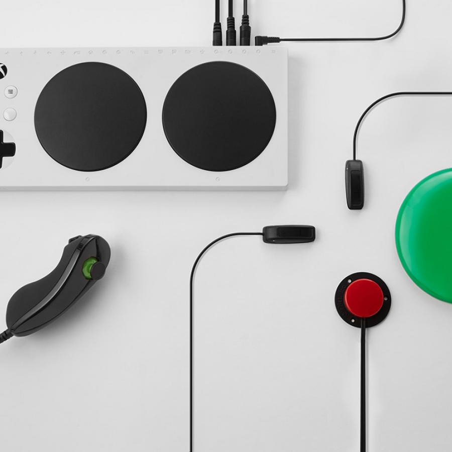 Industrial Design: Xbox Adaptive Controller for gamers with disabilities