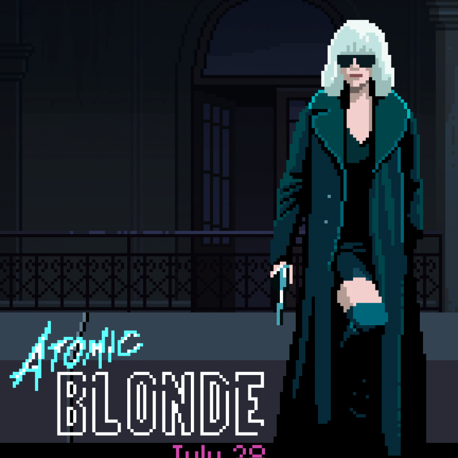 Atomic Blond Pixel Art Game