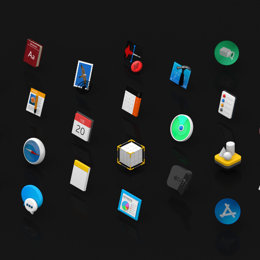Apple 3D Icons for AR