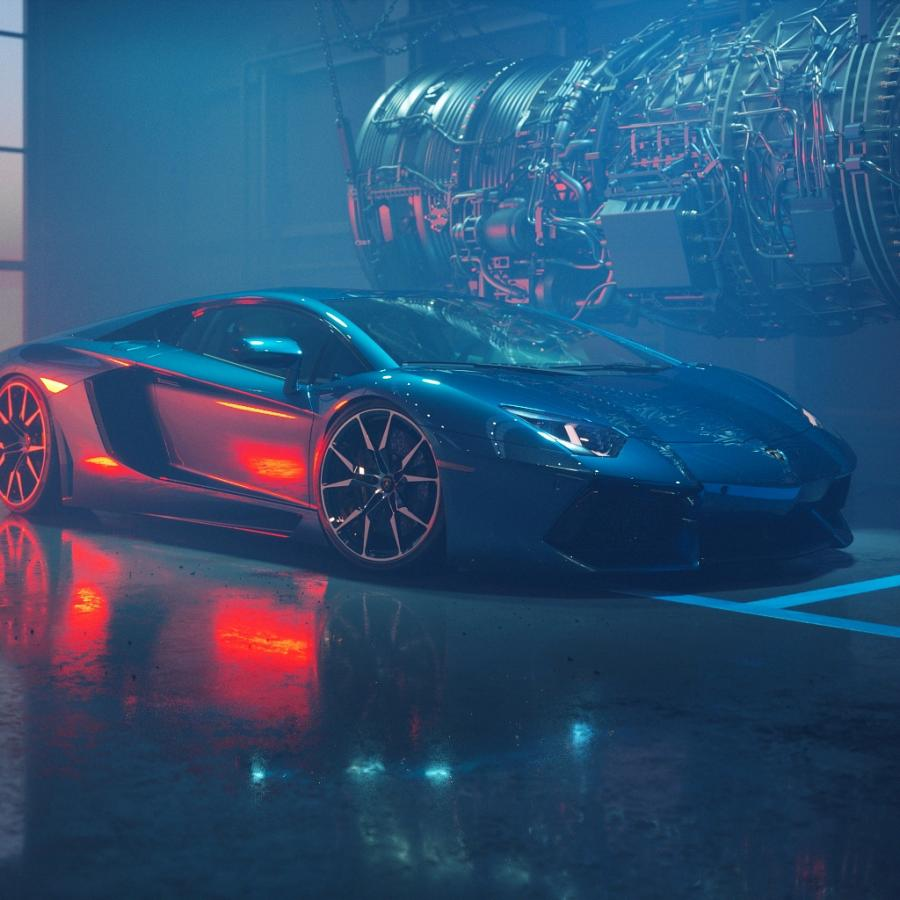 Lamborghini Aventador entirely made in CGI
