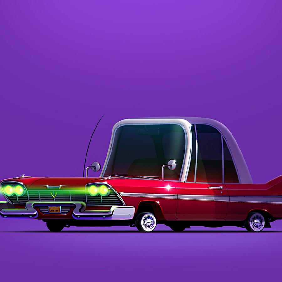 Iconic Movie Cars by Servin Seidaliev