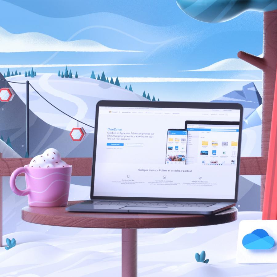 Microsoft 365 - The New Way 3D Illustration Series