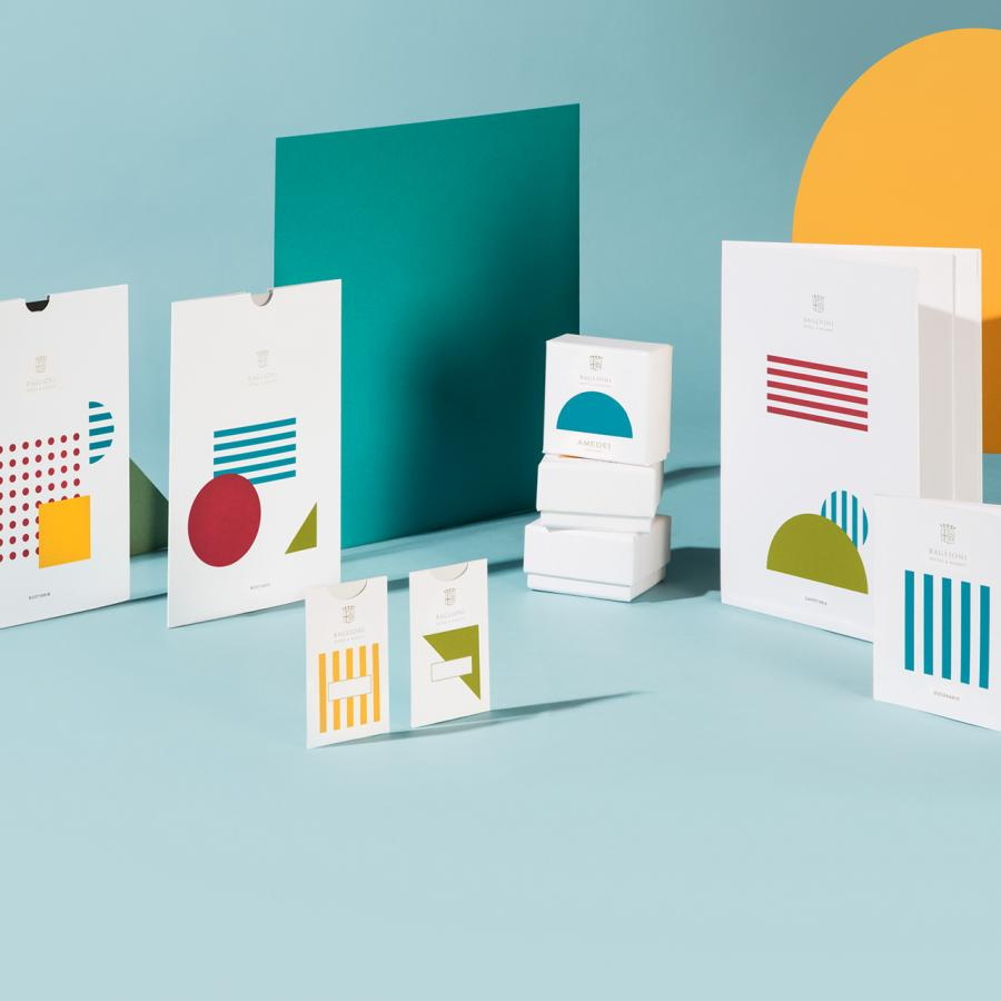 Colorful and Geometric Branding for Baglioni Hotels