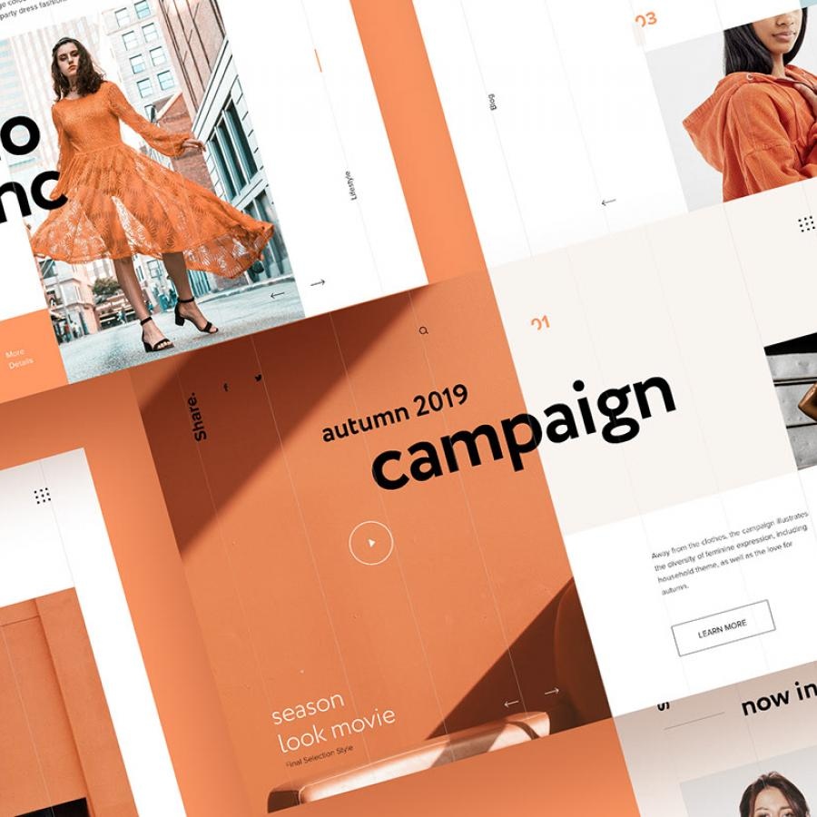 Web Editorial Design for Online Store