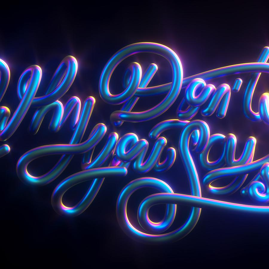 3D Typography - Canciones Fancy