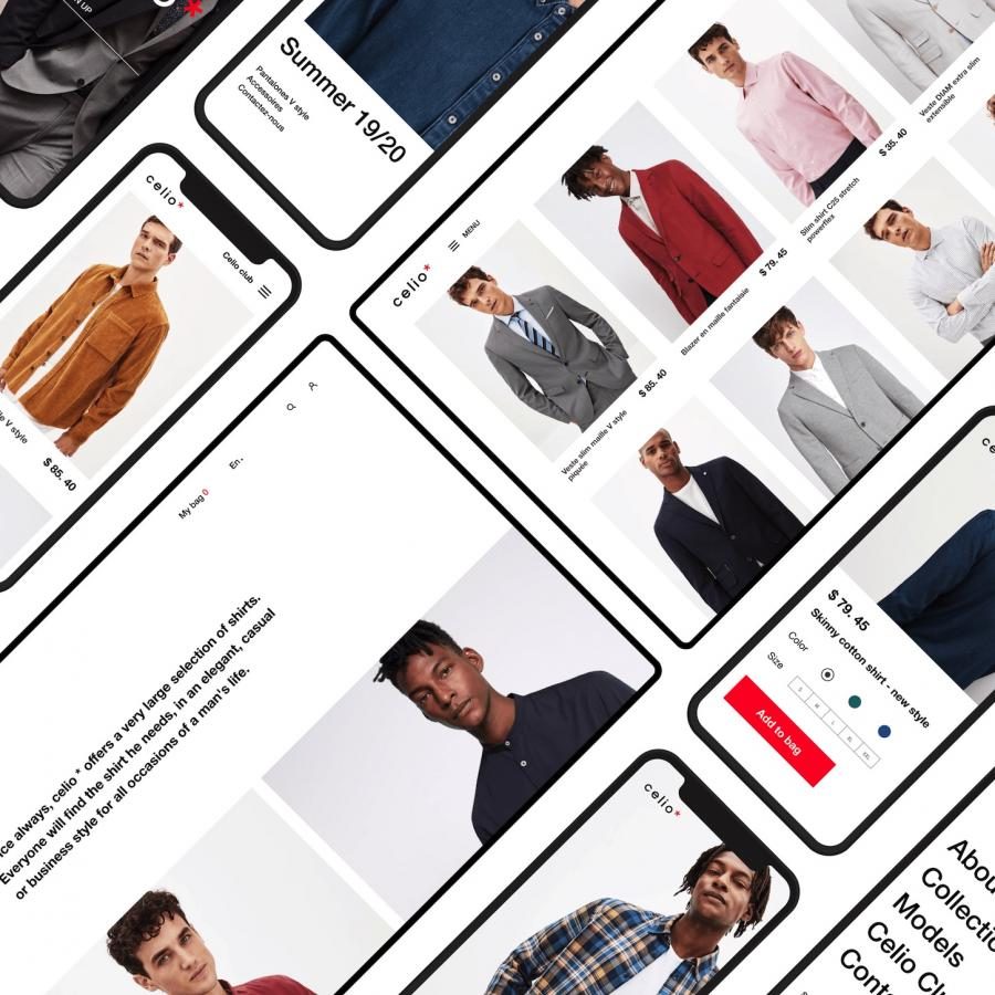UI/UX Website Redesign Concept for Celio*