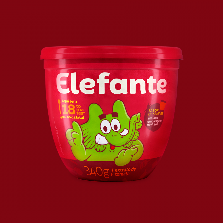 Branding Redesign for Elefante One of Brazilians Most Popular Brand
