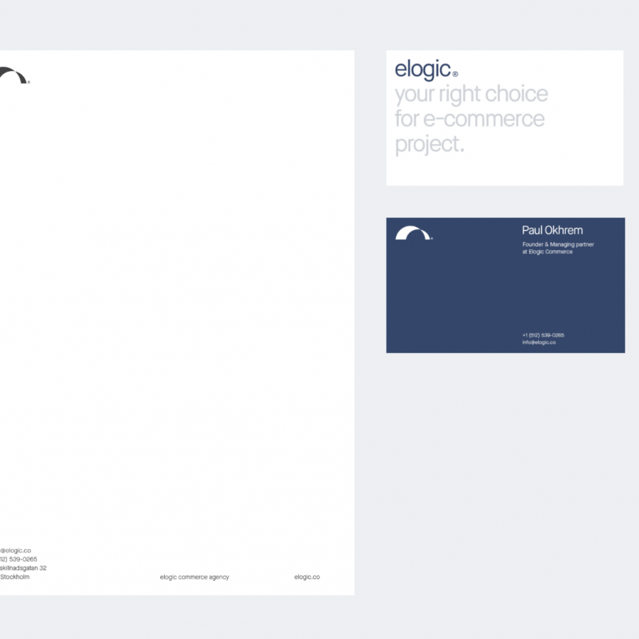 Simple and Super Elegant Brand Identity for Elogic