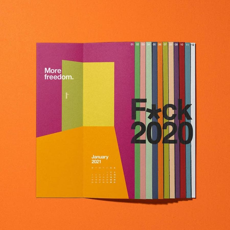 Gift Guide - 'F*ck2020 Lateral 2021 Calendar