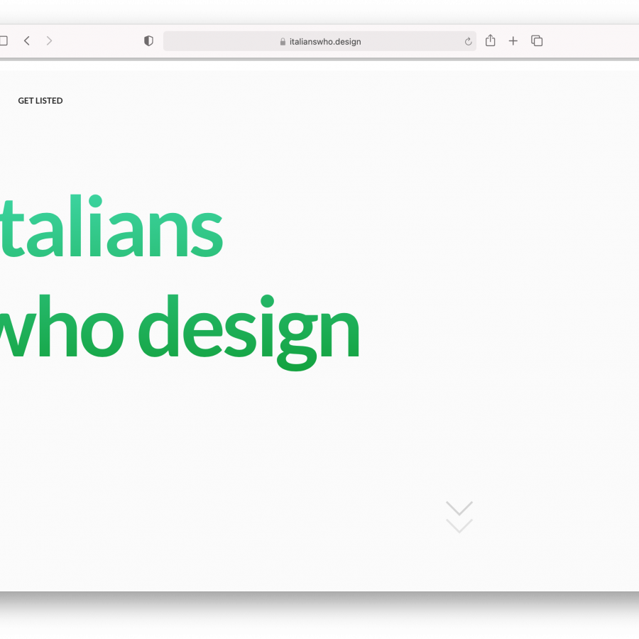 Italians Who Design: a repository to showcase Italians work to the world