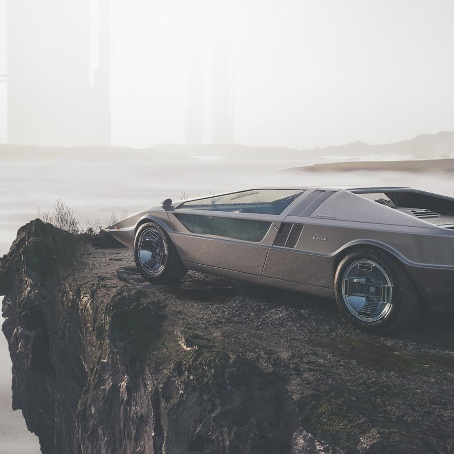 Beautiful 3D Rendered of  Maserati Boomerang