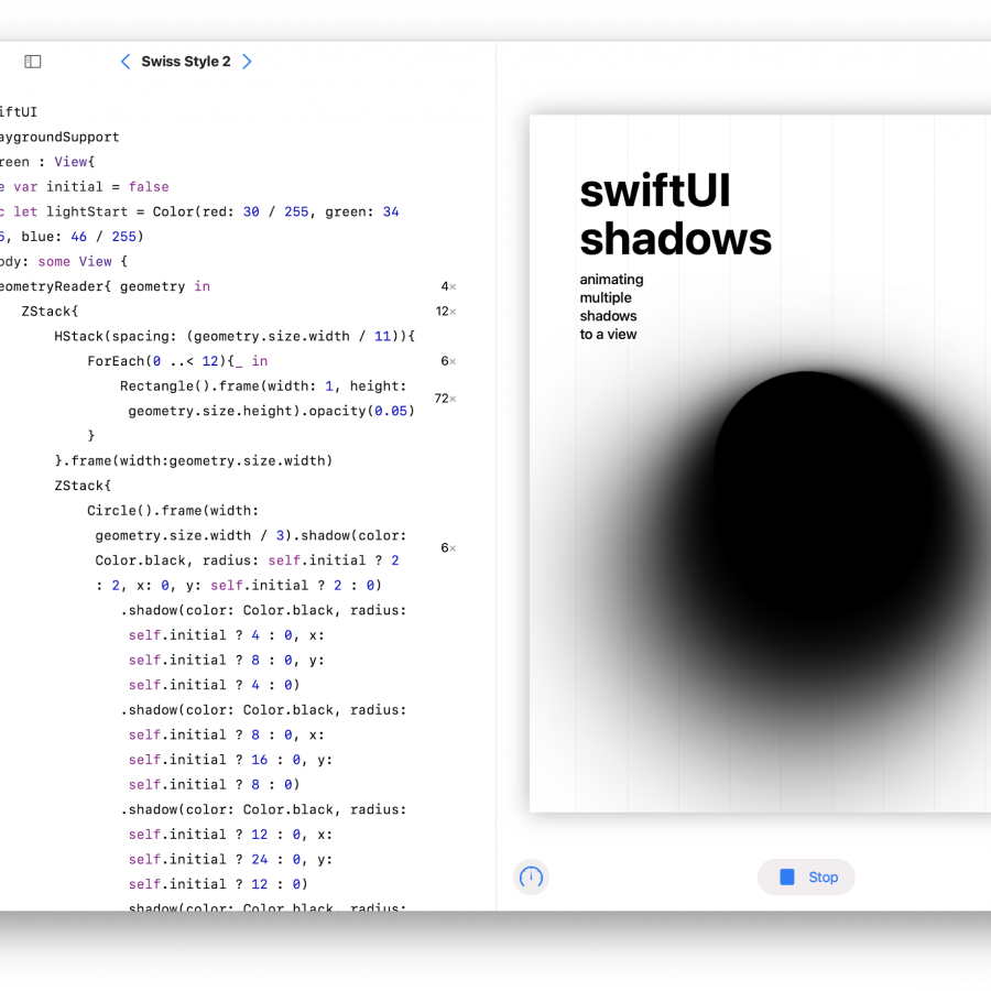 Playing with Shadows in SwiftUI