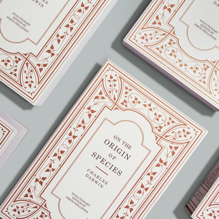 Typographic inspired edition of On the Origin of Species by Charles Darwin