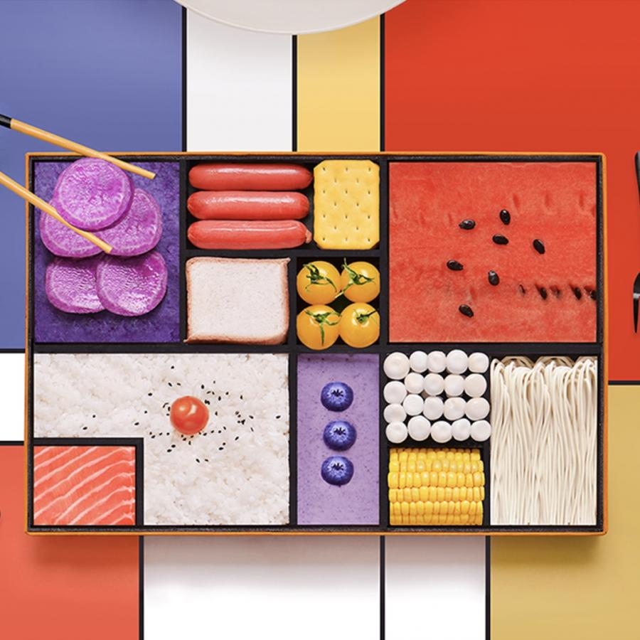 Amazing Mondrian Inspired Bento Box