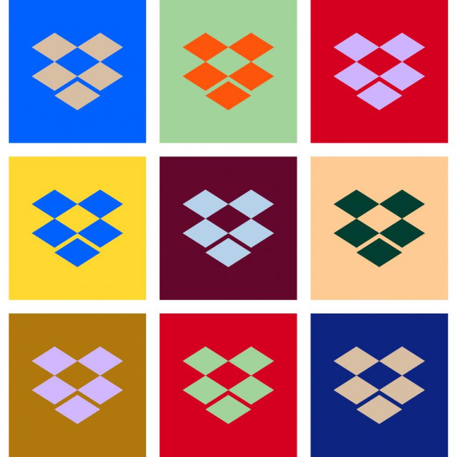 Brand Identity - Dropbox Colorful New Look