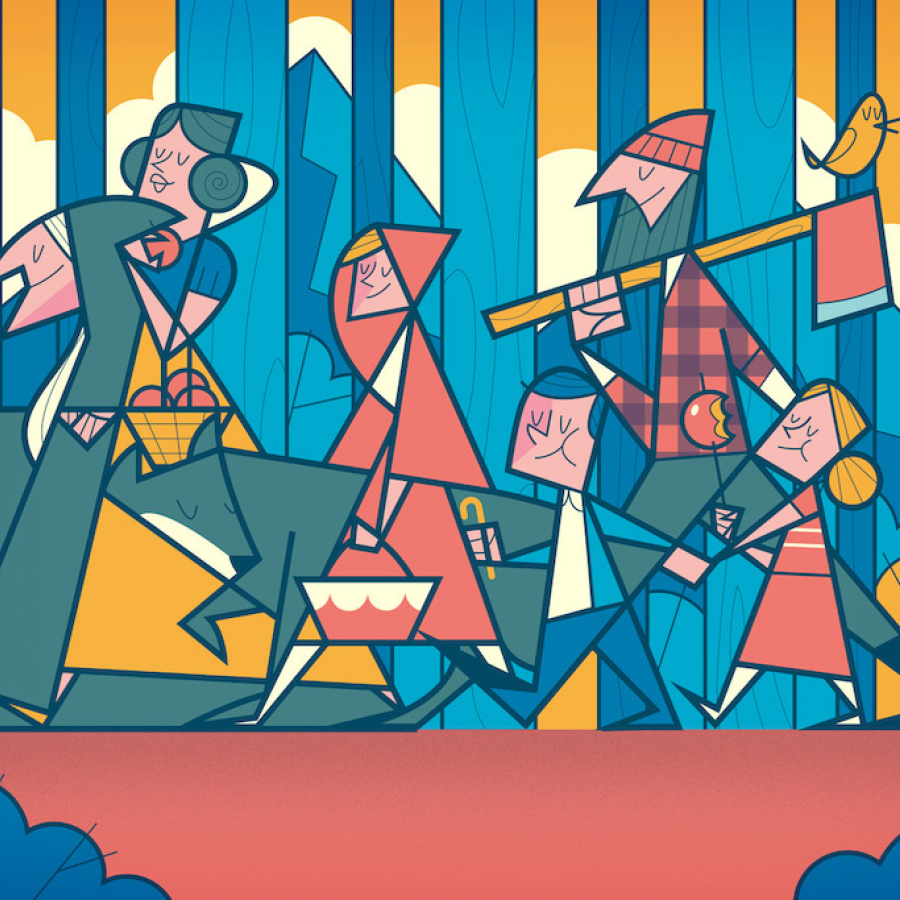 Illustration: Grimms' Fairy Tales Illustrated by Ale Giorgini