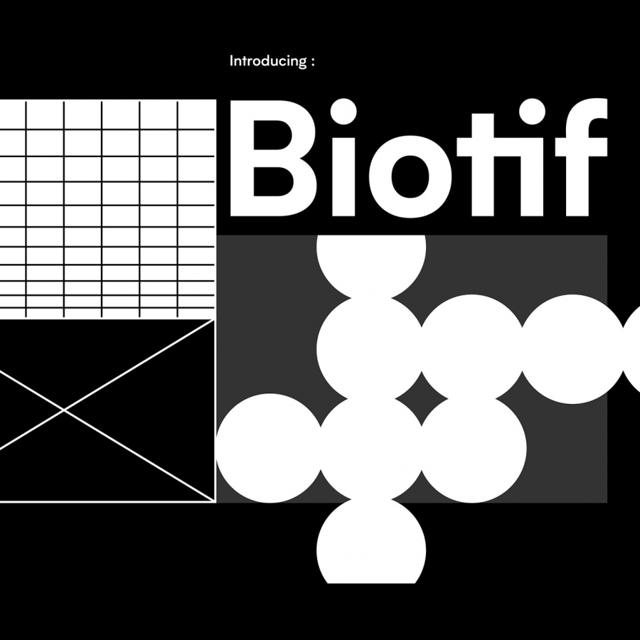 Typography and Font Design: Biotif Typeface