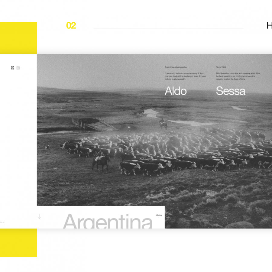 Web Design Concept for the Photographer Aldo Sessa
