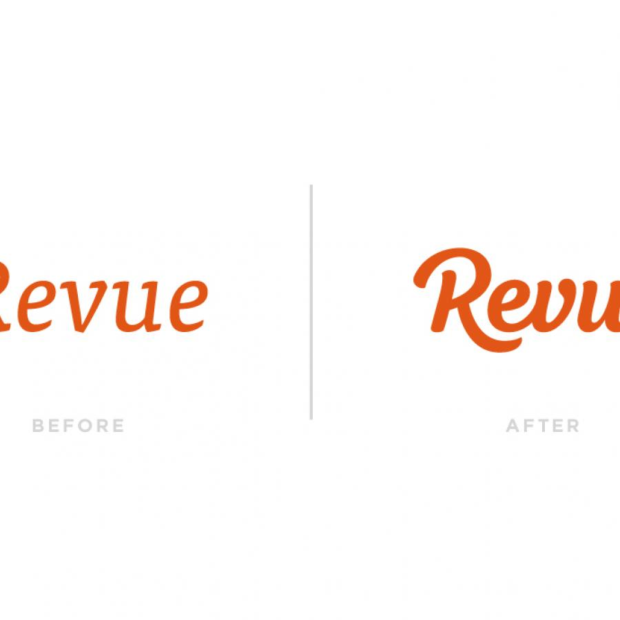 Revue Custom Logotype Process by Paul von Excite
