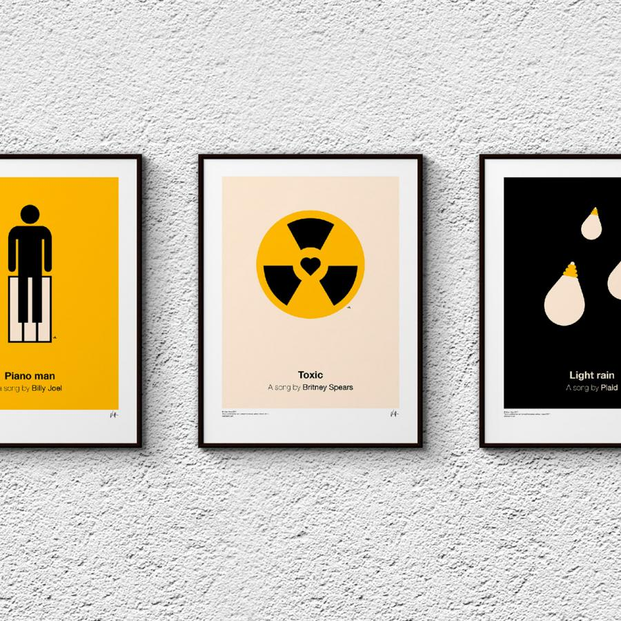 Graphic Design: Pictogram music posters 2017