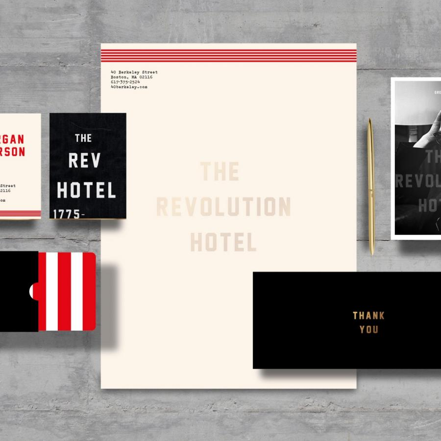 Fantastic & Experimental Brand Identity for The Revolution Hotel