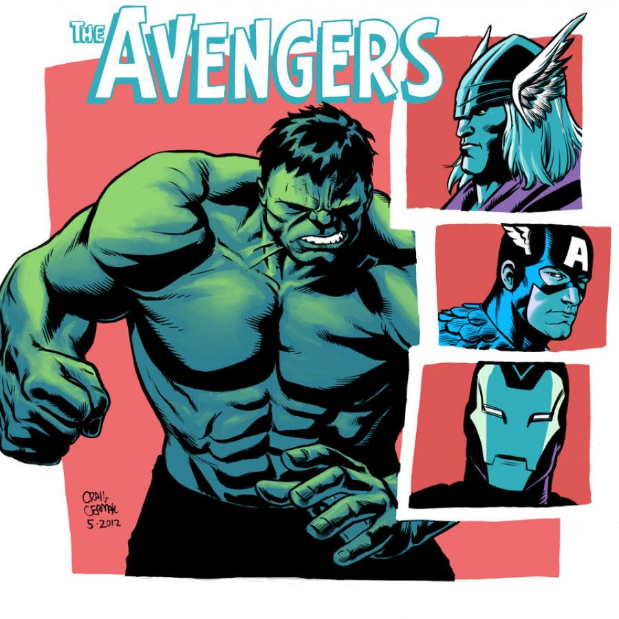 Terrific Avengers Illustrations