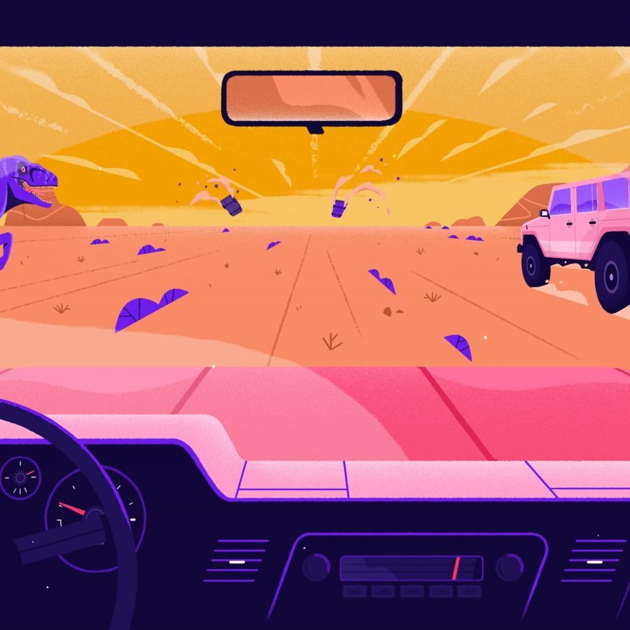 Super Stylish Illustration and Animation: Wonderlust Ident / Racing