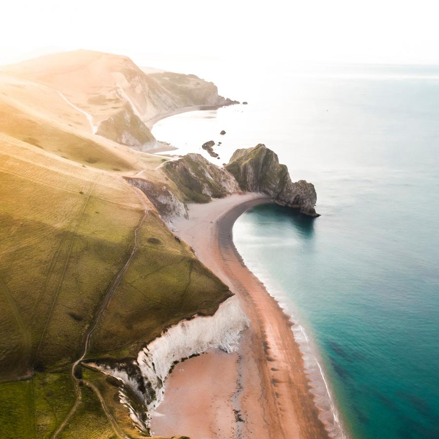 Wallpaper of the Week x Unsplash - The Shape of Dorset, UK