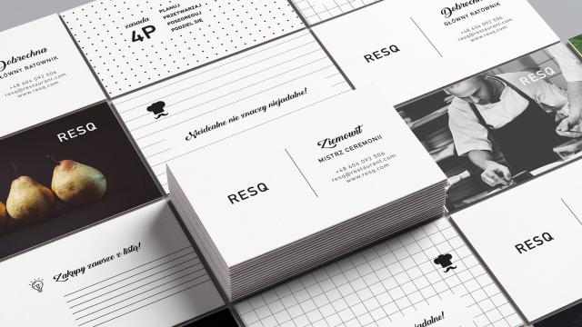 Beautiful Brand Identity for RESQ Restaurant
