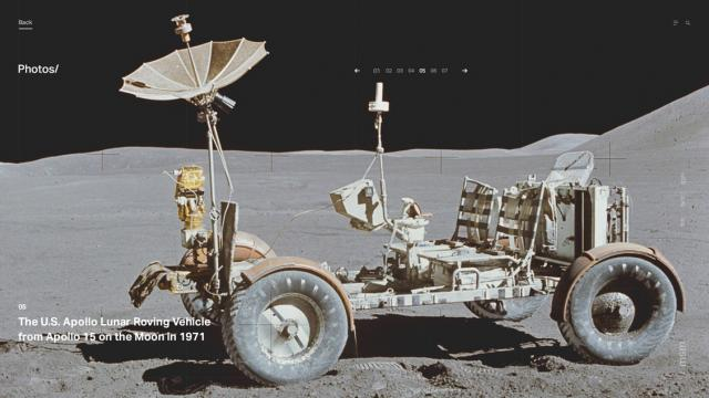 Web Design & UI/UX: Explore the Moon