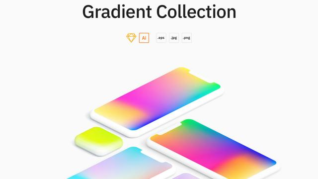 Freebie: A collection of mesh gradients by LS Graphics
