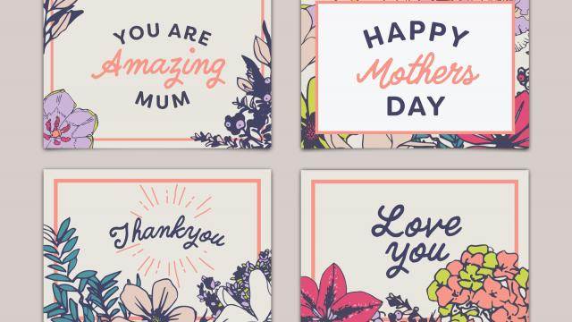 Free Card Layouts for Mother's Day with Adobe Stock
