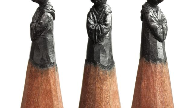 Miniature Pencil Sculptures by Salavat Fidai