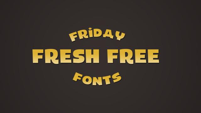 Friday Fresh Free Fonts - Laika, Distractor, ...