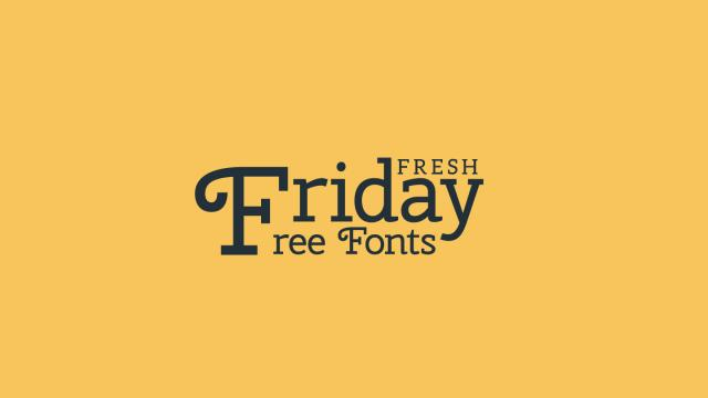 Friday Fresh Free Fonts - Aleo, Muchacho, ...