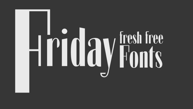 Friday Fresh Free Fonts - Bowlby One, Agilis, ...