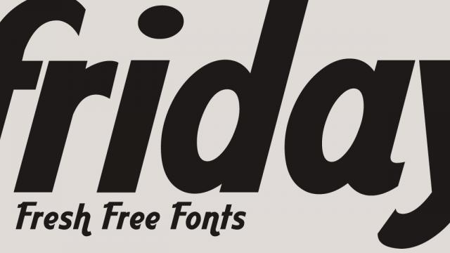 Friday Fresh Free Fonts - Klinic, Aardvark Cafe, ...