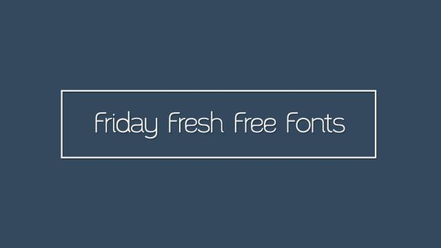 Friday Fresh Free Fonts - Santor, Born, ...