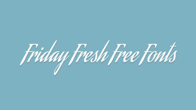 Friday Fresh Free Fonts - Aguafina Script, Martell, ...