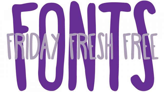 Friday Fresh Free Fonts - BigMouth, Canter, and Happy Fox