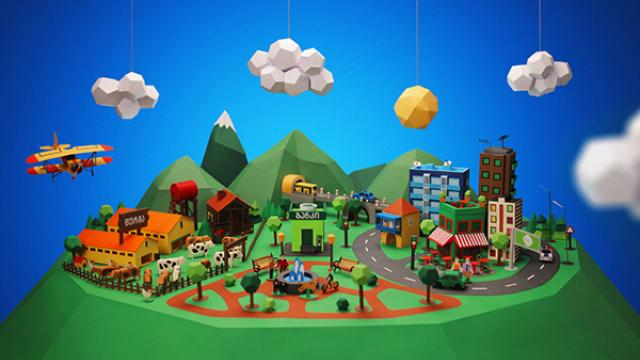 Sweet Papercraft Town Project
