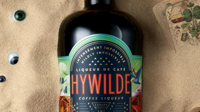 Colorful Packaging Design for coffee liqueur Hywilde