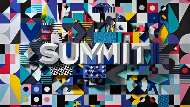 Art Installation of Adobe's Summit Identity