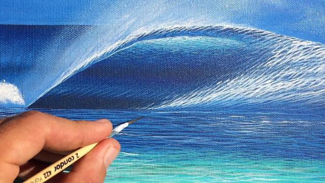 The waves and the ocean by Carlos Carpinelli's hands