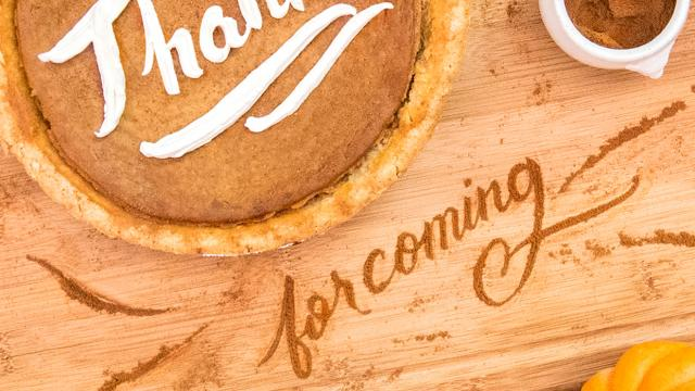 Thanksgiving Food Typography