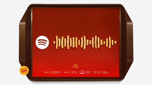 McDonald's x Spotify's Frieslist: Transform your fries into music