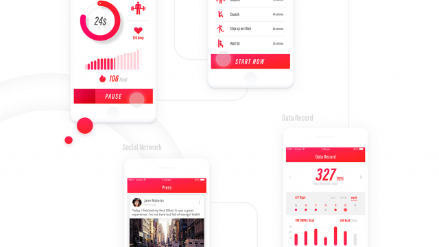 Interaction Design & UI/UX: Fit Me. Personal Fitness Coach