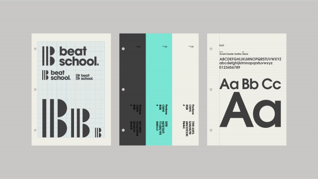 Modernist Brand Identity for Beat School
